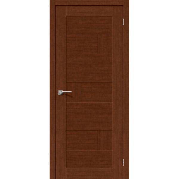 Дверь межкомнатная Евро шпон Эльпорта Легно 38 Brown Oak Elporta Legno