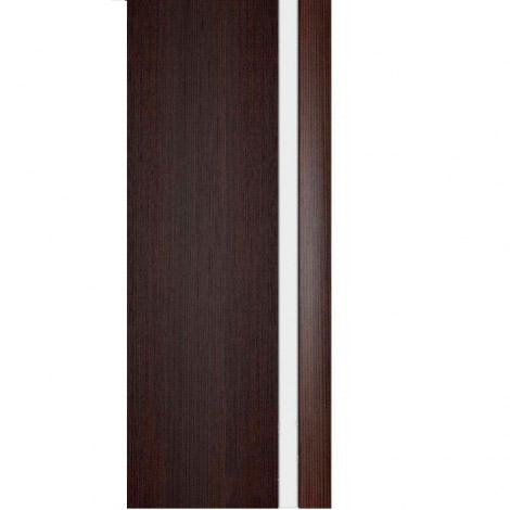 Межкомнатная дверь МДФ Экошпон Ладора Модель 3/1 белый триплекс Африканский орех