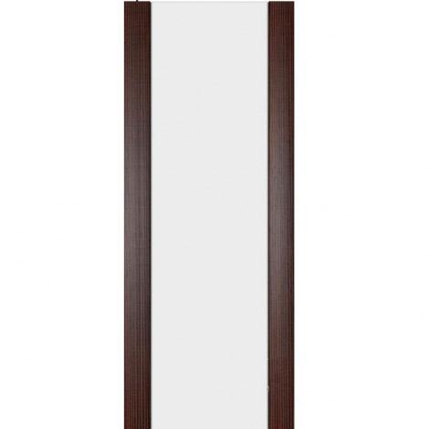 Межкомнатная дверь МДФ Экошпон Ладора Модель 3/3 белый триплекс Африканский орех