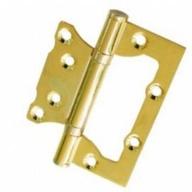 Петля дверная RENZ стальная универсальная 100- 2BB FH PB без ВР  Латунь блестящая