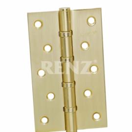 Петля дверная RENZ универсальная декоративная 125- 4BB FH PB Латунь блестящая