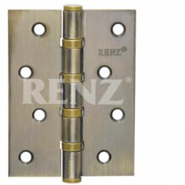 Петля дверная RENZ универсальная декоративная 125- 4BB FH AB Бронза античная