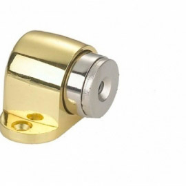 Ограничитель дверной RENZ напольный магнитный DSM 32 PB Латунь блестящая