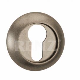Накладка круглая на цилиндр RENZ ET (N) 08 SC/CP Хром матовый\хром(светлый)