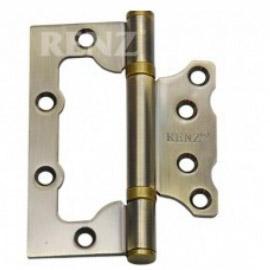 Петля дверная RENZ стальная универсальная 100- 2BB FH AC без ВР Медь античная