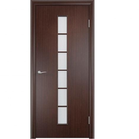 Межкомнатная дверь МДФ ламинированная Verda ПО С12 Венге