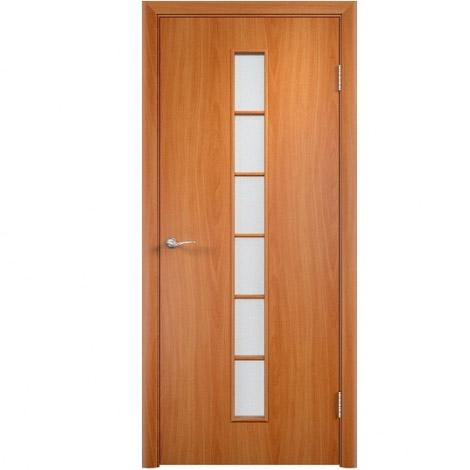Межкомнатная дверь МДФ ламинированная Verda ПО С12 Миланский орех