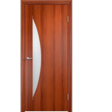 Межкомнатная дверь МДФ ламинированная Verda ПО С6 Итальянский орех