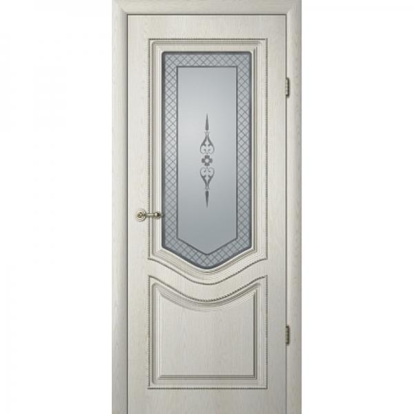 Межкомнатная дверь Рафаэль 1 ПО с патиной