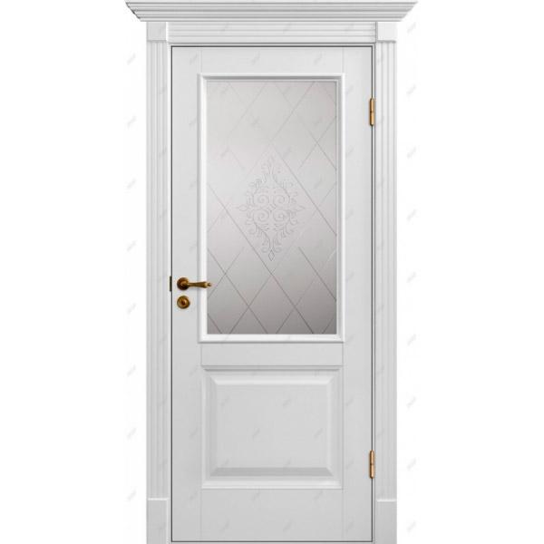 Межкомнатная дверь Авалон 4 (витраж Версаль)