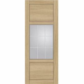 Межкомнатные двери МДФ, «Ладора» экошпон серия «Квадро 2/1» Дуб светлый