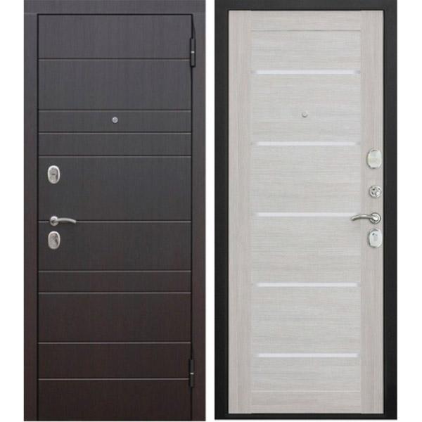 Входная металлическая дверь Барселона Царга Лиственница бежевая
