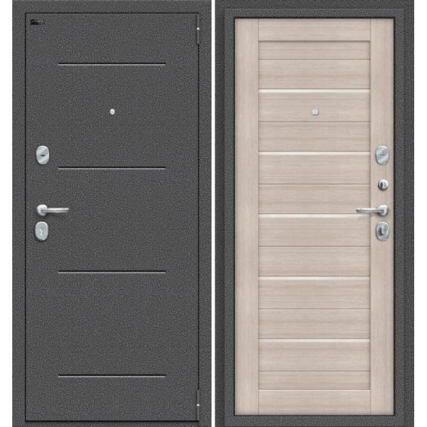 Дверь входная Porta S 104.П22 Антик Серебро/Cappuccino Veralinga