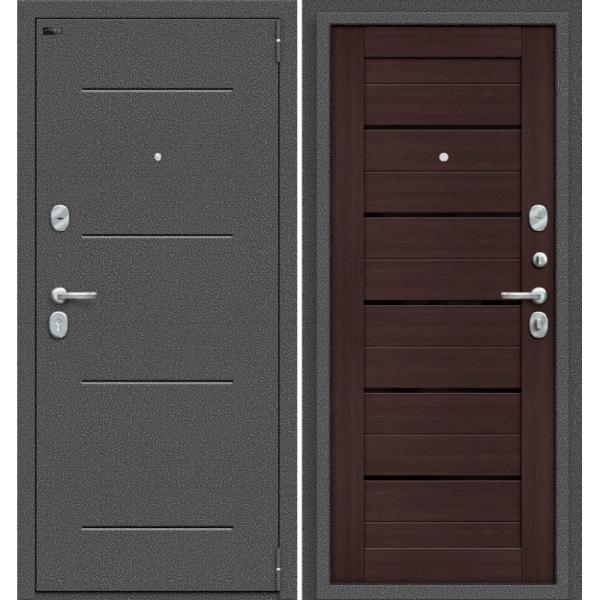 Дверь входная Porta S 104.П22 Антик Серебро/Wenge Veralinga