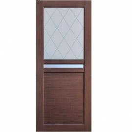 Межкомнатные двери МДФ, «Ладора» экошпон серия «Квадро 2/9» Дуб темный