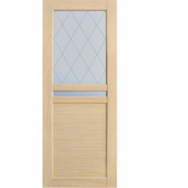Межкомнатные двери МДФ, «Ладора» экошпон серия «Квадро 2/9» Дуб светлый