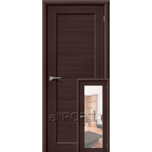 Дверь межкомнатная аква Эльпорта АКВА-1/2 Wenge Veralinga