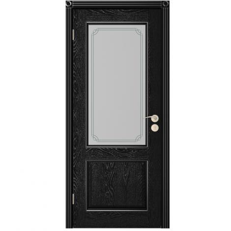 Межкомнатная дверь шпонированная  Шервуд 3 ДО, Эмаль чёрная