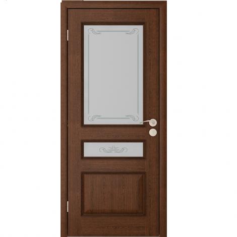 Межкомнатная дверь шпонированная Вена ДО, Каштан