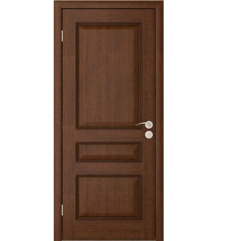 Межкомнатная дверь шпонированная Вена ДГ, Каштан