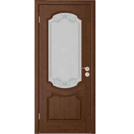 Межкомнатная дверь шпонированная Престиж ДО Каштан