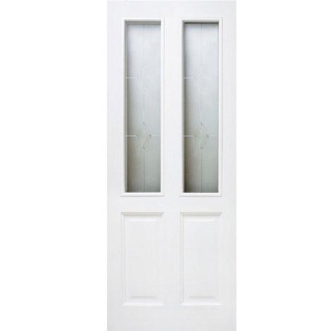 Дверь из массива сосны ПМЦ ДО М15 Белый лоск