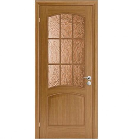 Межкомнатная дверь шпонированная Капри-3 ДО Дуб натуральный