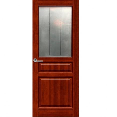 """Межкомнатная дверь из массива """"Венеция"""" ДО Махагон"""