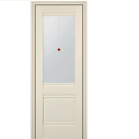 МЕЖКОМНАТНАЯ ДВЕРЬ PROFIL DOORS 2x (стекло узор) ЭшВайт