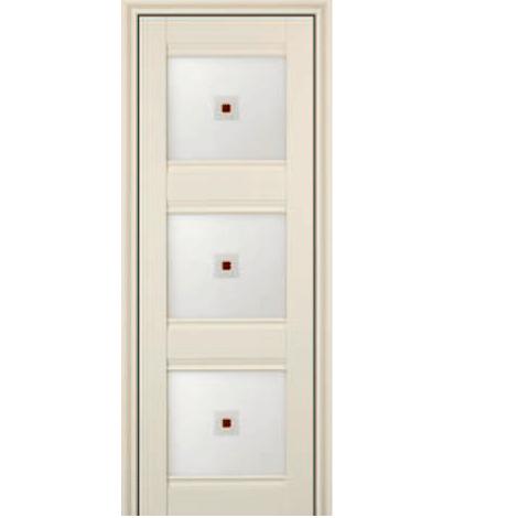 МЕЖКОМНАТНАЯ ДВЕРЬ PROFIL DOORS 4x (стекло узор) ЭшВайт