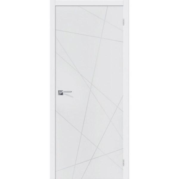 Дверь межкомнатная Эльпорта Скинни-5 Whitey Skinny